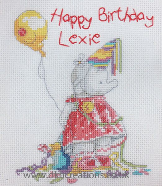 Humphreys Corner Birthday Girl Cross Stitch Kit